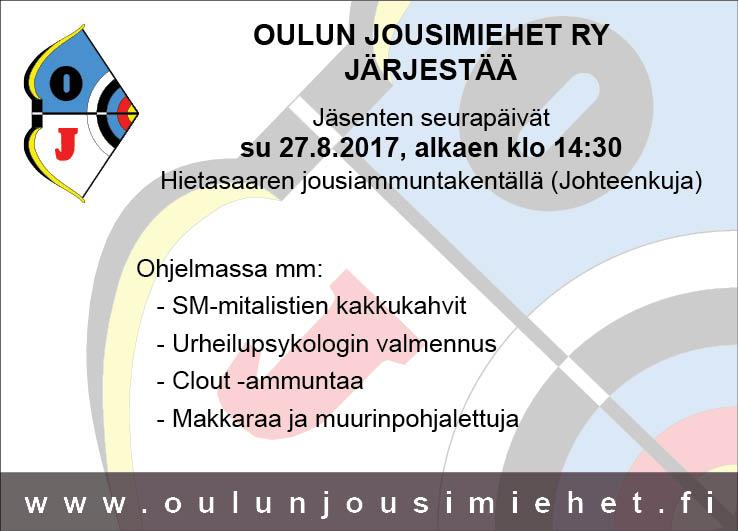 OJM:n jäsenten seurapäivät 27.8.2017